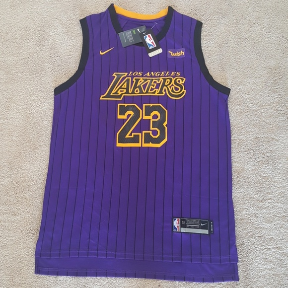 62729b0c2 LeBron James Lakers Stitched City Edition Jersey
